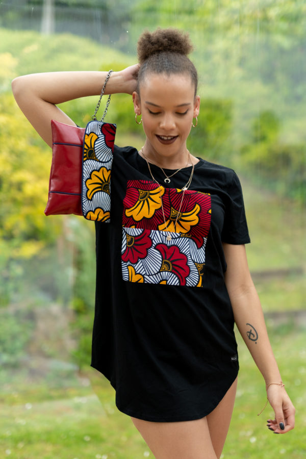 Ensemble tee-shirt et pochette wax